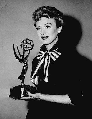 Eve Arden - Arden with her Emmy Award for Our Miss Brooks, February 11, 1954