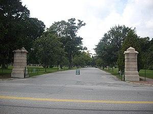 Evergreen Cemetery (Portland, Maine) - Entrance from Stevens Avenue