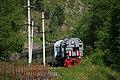 Excursion train of Circum-Baikal railway- ED9MK-0029 EMU under TEM2-6550 (32234238916).jpg