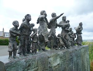 Cove, Scottish Borders - Memorial at Cove