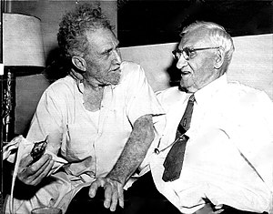Usher L. Burdick - Burdick (right) with poet Ezra Pound, 1958