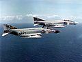 F-4J Phantoms of VF-21 and VF-154 in flight c1970.jpg