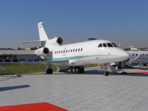 Falcon 900EX auf der Farnborough International Airshow