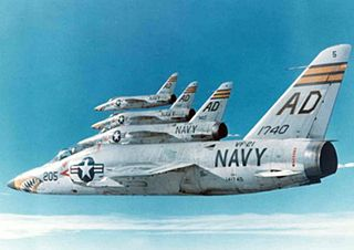 Grumman F-11 Tiger US Navy carrier-based fighter aircraft in service 1956-1969