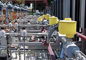 Fluid Components International - FCI's FLT93 flow switches installed in Orange County Sanitation District's chemical injection process
