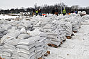FEMA - 40316 - Sand bags stacked and redy for use in North Dakota