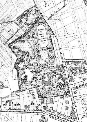 Palmengarten - Image: FFM Palmengarten Karte 1887