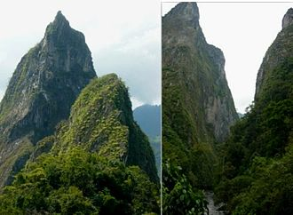 Muzo people - The sacred mountain peaks Fura and Tena