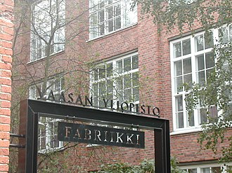 University of Vaasa - Part of the university is housed in a former cotton mill. This part is called Fabriikki.