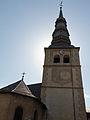 Face est du clocher de l'église Saint-Jacques d'Assyrie (Hauteluce, Savoie, France).jpg