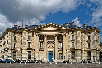 Paris Law Faculty - The structure designed by Jacques-Germain Soufflot for the Paris Law Faculty, on place du Panthéon.