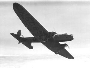 Fairey Hendon - A Fairey Hendon flies over.