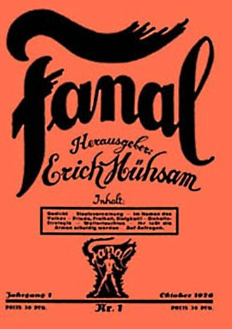 Erich Mühsam - First edition of Fanal (1926)