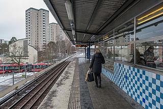 Farsta metro station Stockholm Metro station