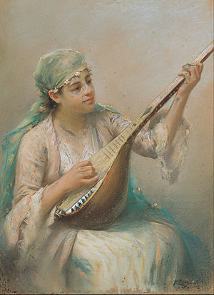 Fausto Zonaro - Woman Playing a String Instrument - Google Art Project.jpg