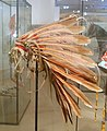Feather headdress from 'Wolf Chief', Hidatsa, c. 1830, red-dyed eagle feathers - Ethnological Museum, Berlin - DSC01104.JPG