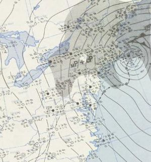 February 1952 nor'easter - A surface weather analysis of the nor'easter
