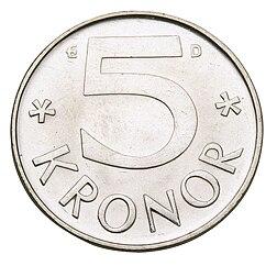 5 kronor fra 1976