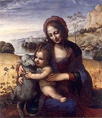 Vierge à l'Enfant avec l'agneau