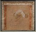 Filippo lippi, panneggio (studio per gasparre nell'adorazione dei magi nella predella della pala della natività per s. margherita a prato), 1467 (rennes, mba).jpg