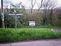Fingerpost sign, Calfaria Chapel carpark, Login - geograph.org.uk - 1280596.jpg