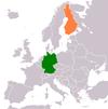 Lage von Deutschland und Finnland