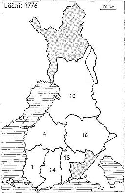 Finnish counties 1776