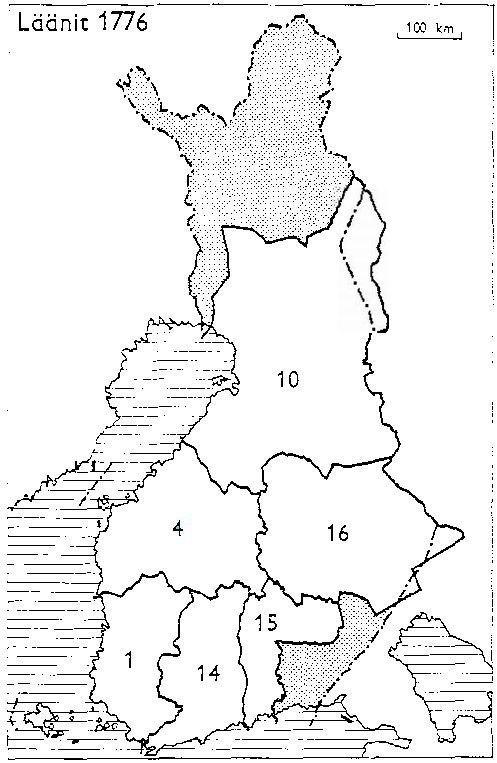 Finnish counties 1776