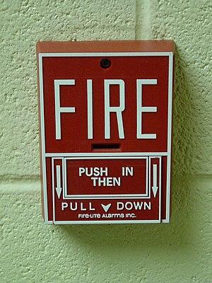 Fire-Lite Alarms - Image: Fire Lite BG 10 pull station
