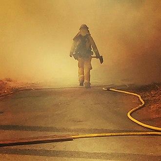 Handcrew - Firefighter working on the  Soberanes Fire, California, 2016