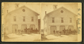 Fire station, steam pumper out front, by S. C. Reed.png