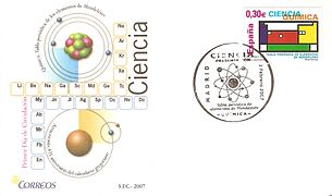First Day Cover Mendeleev's periodic table.jpg