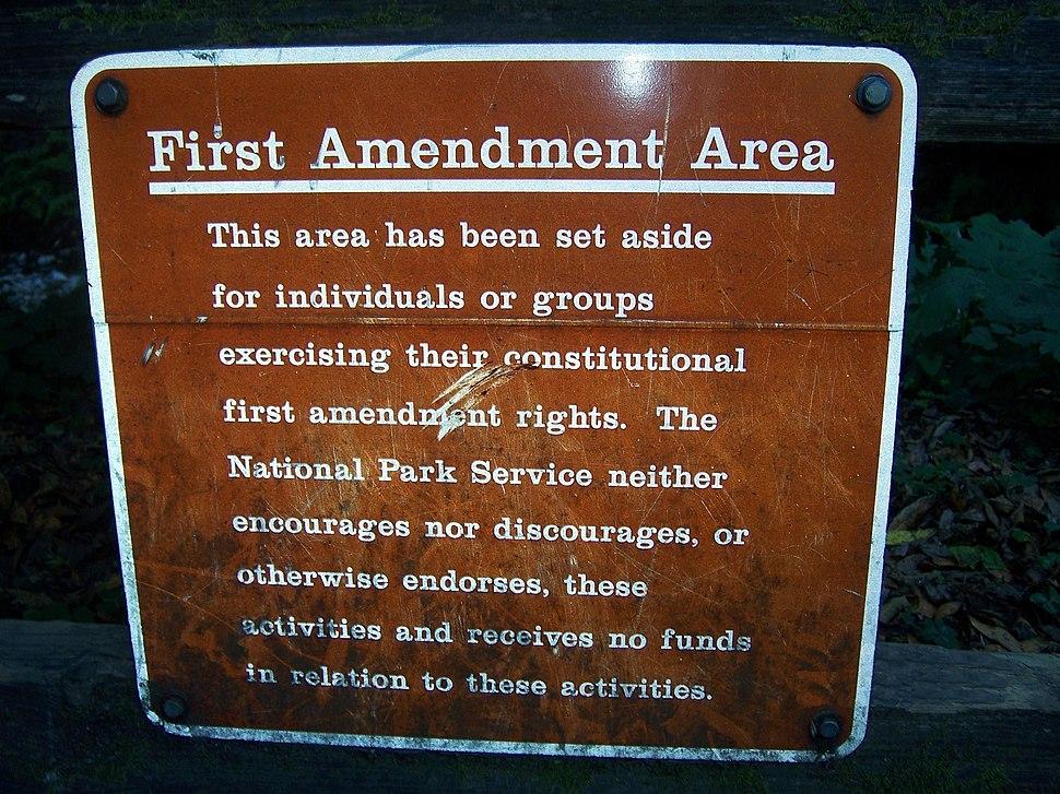 First amendment area Muir Woods