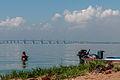 Fisherman taking a bath in the Maracaibo lake.jpg