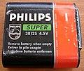 Flachbatterie PHILIPS SUPER 4,5 V Vorderseite.jpg
