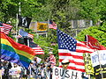 Flags at the protest, May 23, 2007.jpg