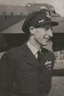 Flight Lieutentant Peter Isaacson DFC AFC DFM 1943.jpg