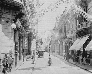 Florida Street - Florida with electric light, 1900.