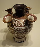 Flower Vase, Iran, Safavid period, 2nd half of 17th century, earthenware with overglaze luster painting - Cincinnati Art Museum - DSC04119.JPG
