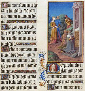 Psalm 130 - Les Très Riches Heures du duc de Berry, Folio 70r - De Profundis, the Musée Condé, Chantilly.