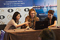 Fondation Neva Women's Grand Prix Geneva 11-05-2013 - Tuvshintugs Batchimeg and Viktorija Cmilyte during the press conference 1.jpg