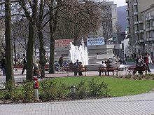 Fontána lásky v centre mesta