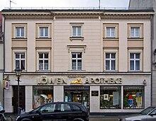 Fontane-Geburtshaus in Neuruppin (Löwen-Apotheke in der Karl-Marx-Straße 84) (Quelle: Wikimedia)
