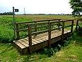 Footbridge and footpath by Falls Farm - geograph.org.uk - 443767.jpg
