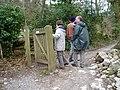 Footpath through Aberduna Woods, near Loggerheads - geograph.org.uk - 153539.jpg