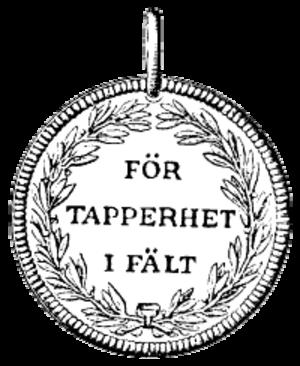 För tapperhet i fält - The obverse of a För tapperhet i fält medal.