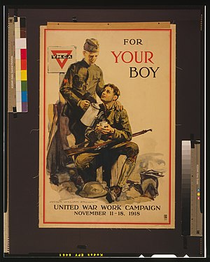 Arthur William Brown - A YMCA poster created for the United War Work Campaign