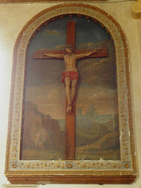 Église Sainte-Marie-Madeleine de Forcé (53). Christ en Croix.