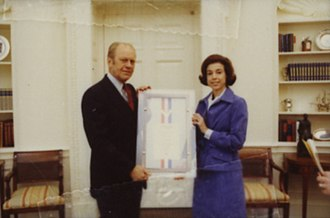 Carla Anderson Hills - Hills with President Gerald Ford in 1977