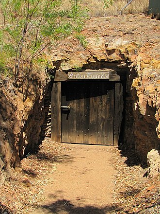 Underground Hospital, Mount Isa - Entrance to the Underground Hospital, 2013